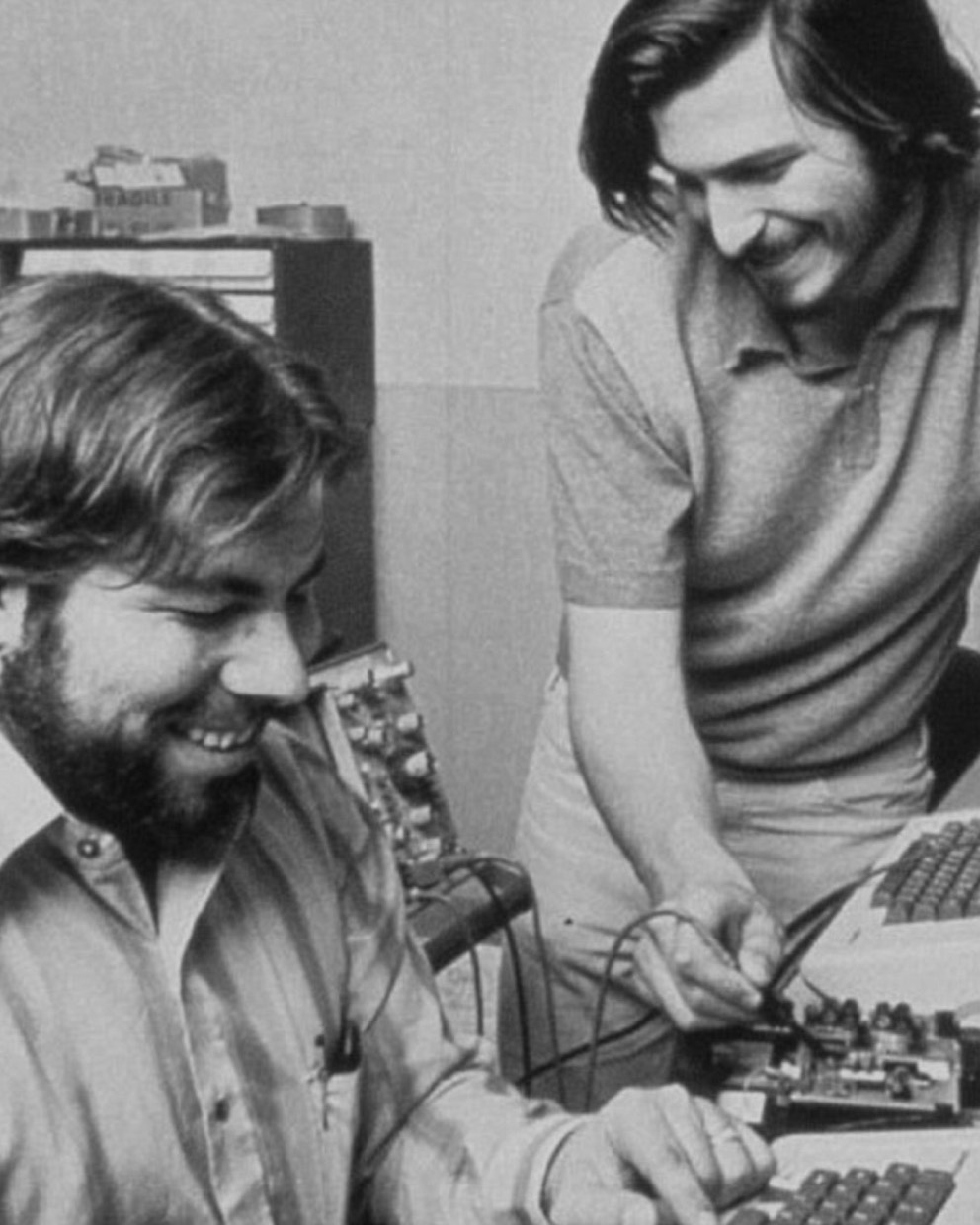 Steve Wozniak and Steve Jobs